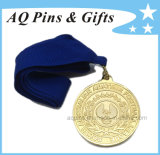 MessingMedal mit Gold Plating