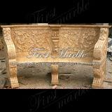 De marmeren Bank van het Graniet van de Steen & Stoel mbt-502 van het Calcium van de Lijst Antieke