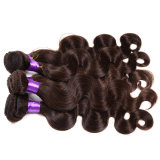 fermeture péruvienne non transformée d'onde du corps 8A 3 paquets de cheveu péruvien de Vierge avec la trame péruvienne de cheveux humains de fermeture de lacet avec la fermeture