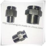 Encaixe pneumático do cilindro do aço inoxidável