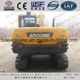 Da esteira rolante amarela pequena pesada do equipamento da máquina da construção máquinas escavadoras hidráulicas