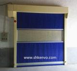 A tela do PVC de alta velocidade rola acima a fábrica do alimento das portas
