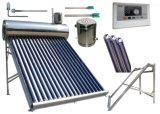 低圧のステンレス鋼の補助タンクが付いている太陽給湯装置