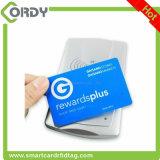 Cartão impresso NTAG213/NTAG215/NTAG216 programado do PVC NFC do plástico