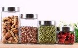 Kitchenware de vidro quadrado dos produtos vidreiros do armazenamento do frasco de 4sets 2.2L