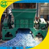 Reciclaje de la desfibradora doble plástica del eje para la basura sólida