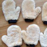 Автомобиля овчины перчатки мытья автомобиля шерстей овечек перчатка неподдельного полируя