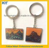 Metal feito sob encomenda relativo à promoção Keychain com logotipo da montanha