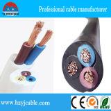 câble de fil flexible électrique rond de la gaine 2core noire