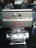 Vávula de bola portuaria de la oblea V neumático (VQ671)