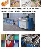 Gereifte Technologie-Plastikmaschine für die Herstellung des doppelten Farben-Getränk-Strohs