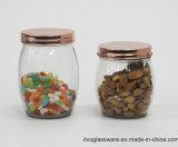 frasco 6oz de vidro com a tampa do aço inoxidável