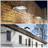 Apliques de la pared que montan luces solares al aire libre del canal del sensor de movimiento de poste