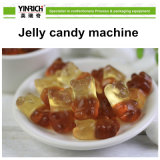 Línea de transformación del caramelo de la máquina del caramelo cadena de producción depositada del caramelo de la jalea para el caramelo de la jalea de la dimensión de una variable del oso (GDQ150)