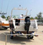 Barca di alluminio della baracca del Cuddy per pesca