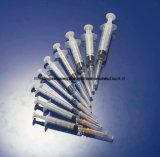 WegwerfLuer Beleg/Luer Verschluss-Spritze eingestellt mit Nadel
