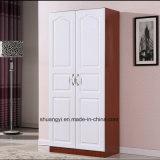 Guardarropa de madera simple chino del PVC de dos puertas