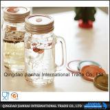 Geprägtes und Druck-Glasware-Maurer-Glas mit Hnadles