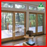 Portello di vetro di legno della lastra di vetro di alta qualità del portello di legno triplice del portello