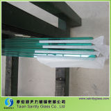 Toughened rectangulaire Clear Float Glass pour Building avec Polished Edge