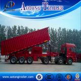 Sale를 위한 2 차축 Rear Type 50tons Dump Truck/Tipper Semi Trailer