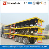 Großes Capacity Q345 Carbon Steel Material Flat Semitrailer für Container Transport mit Container Locks auf Hot Sale