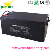 Batería profunda solar sin necesidad de mantenimiento del AGM del ciclo 12V200ah para la potencia