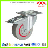 """do """" placa giro 4 com o rodízio industrial reduzido ruído do freio (P102-51D100X33S)"""