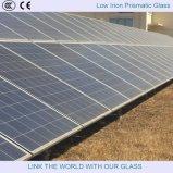Glace Tempered en fer inférieur prismatique pour la glace solaire