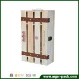 좋은 품질 큰 저장 나무로 되는 포도주 상자