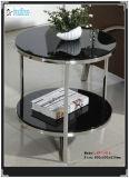 الأسود خفف من الزجاج طاولة جانبية ( WG1511 )