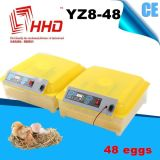 Pequeña incubadora automática de huevo de pato de tamaño pequeño 24 Yz8-48