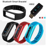 Привод пер USB поручая браслет Bluetooth франтовской с контроль тарифа сердца (HB02)