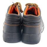 Zapatos de funcionamiento de acero baratos de la punta del cuero genuino