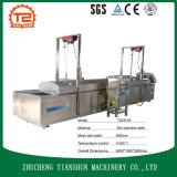 Fritar a máquina com a frigideira profunda para fritar o alimento/máquina de fritura automática para o feijão de soja produz Tszd-60