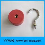 Крюк съемного красного магнита неодимия круглого вися