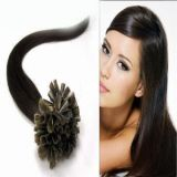 Человеческие волосы бразильянина прямых волос конца ногтя