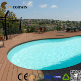 Decking en plastique de composé de PVC en bois de piscine de qualité
