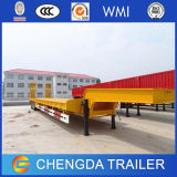 80ton Recessed Low Bed Trailer、3axle Excavator Transport Lowbed Trailer