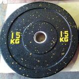 25kg Crossfit에 의하여 착색되는 고무 올림픽 풍부한 무게 격판덮개에 5kg