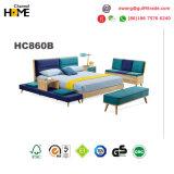 Het speciale Tweepersoonsbed van het Meubilair van het Huis van het Ontwerp Houten (HC860)