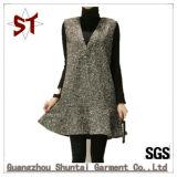 Produção original de vestido da veste da forma de lãs do poliéster para o outono