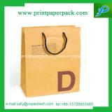 Het winkelen Zak van het Document van Kraftpapier van de Zak van de Gift van de Zak de Verpakkende