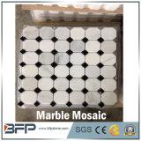 Mosaico do hexágono quente o mais atrasado do estilo e telhas de mármore brancos do mosaico