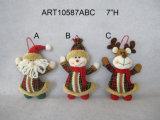 Ornamento da árvore de Natal da rena do boneco de neve de Santa