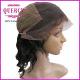 """Encaje súper barato 8 """"-32"""" pelo humano de encaje completa y peluca del frente del cordón de la rayita natural (HW-047)"""