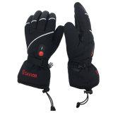 СПАСИТЕЛЬ S15  Спорт Gloves&#160 перчаток водоустойчивых перчаток батареи неподдельной кожи перезаряжаемые Heated катаясь на лыжах; (Чернота Unisex, полной величины)