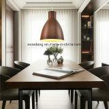Dekoration-heller Leuchter-hängende Lampe mit hölzerner Farbe für Gaststätte