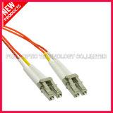 주황색 재킷 PVC OM2 LC/PC-LC/PC 단순한 광섬유 접속 코드