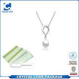 Escritura de la etiqueta material de la etiqueta engomada de la joyería de la perla del vinilo respetuoso del medio ambiente